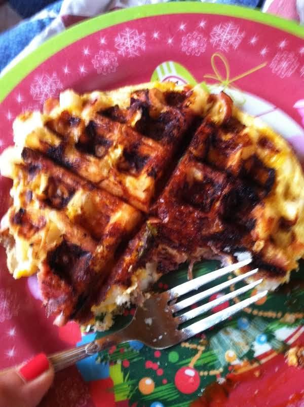 Waffle Iron Potato Omelette Recipe