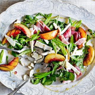 Grilled Nectarine, Parma Ham + Runner Bean Salad.