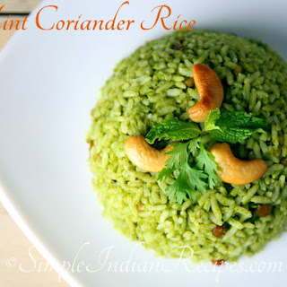 Mint Coriander Rice Recipe