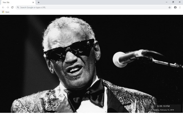 Ray Charles New Tab & Wallpapers Collection