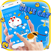 Kawaii Blue Cute Cat Cartoon Wallpaper Theme