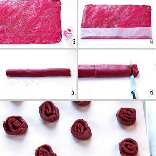 (The Bachelor) Red Velvet Rose Cookies