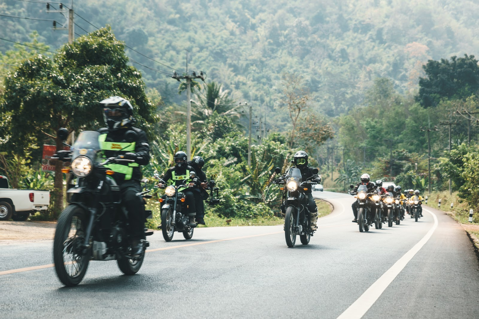 A group of riders touring Vietnam