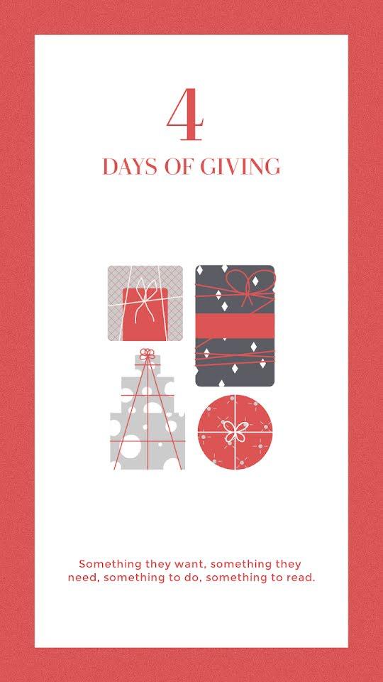 Four Days of Gifting - Christmas Template