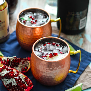 Pomegranate Champagne Moscow Mules.