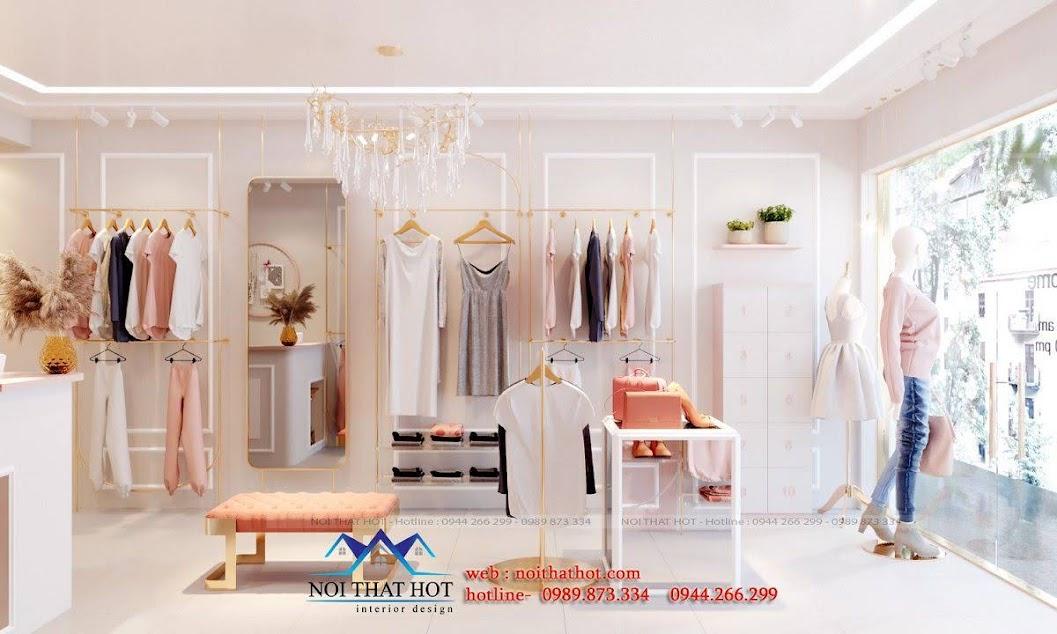 bố trí nội thất shop thời trang