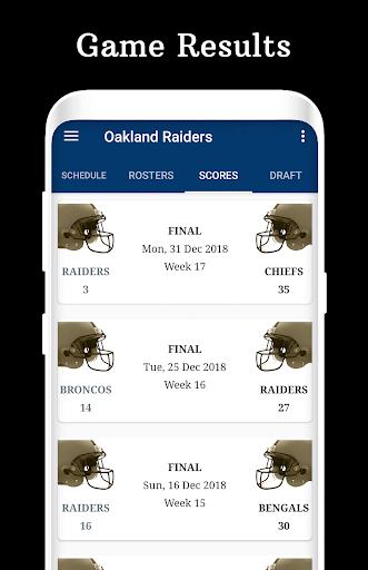 Raiders - Football Live Score & Schedule cheat hacks