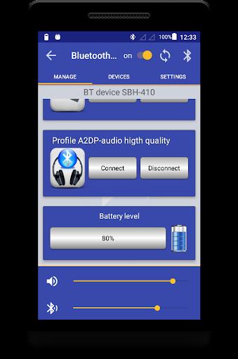 Bluetooth Music  Widget Battery FREE 2.2 screenshots 2