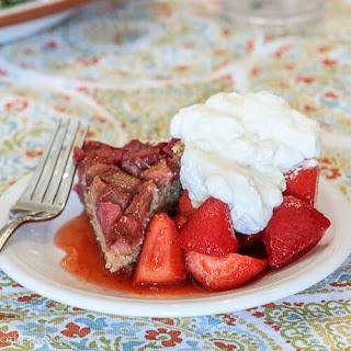 Upside Down Rhubarb Cake