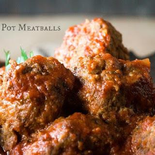 Crock Pot Meatballs.