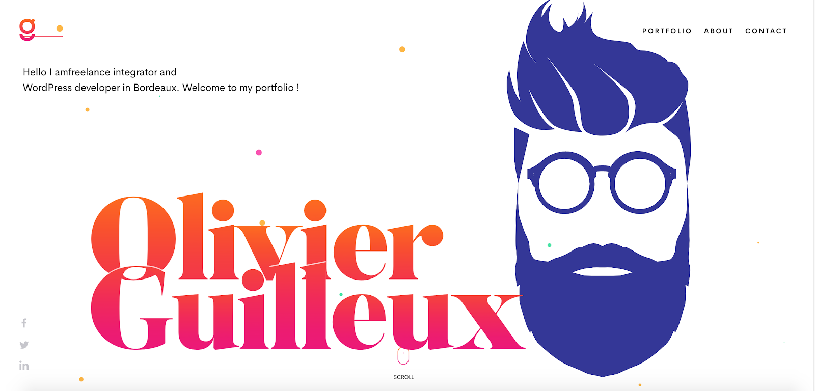 Web Developer Portfolio of Olivier Guilleux