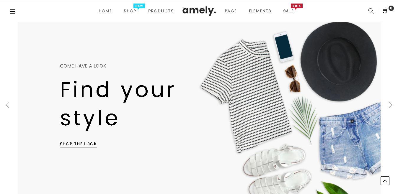 Fashion shopify theme Amely