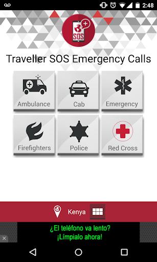 Traveler SOS emergency calls