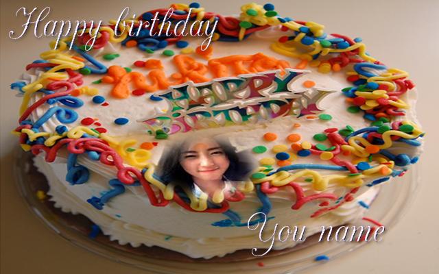 Birthday Cake Photo Frame Name Android App Screenshot