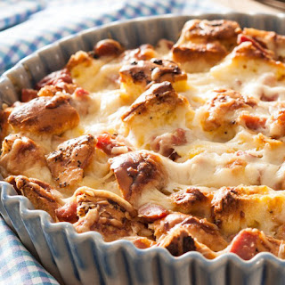 Three Cheese Strata with Ham