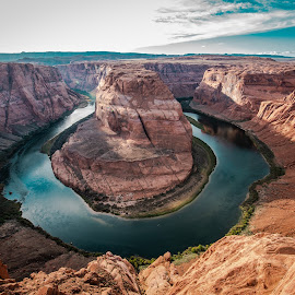 HorseShoe bend  by Stefania Loriga - Landscapes Caves & Formations ( horseshoe bend )