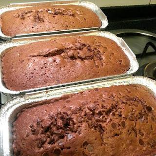 Nutella Stuffed Chocolate Pound Cake with Dark Chocolate Chips Recipe