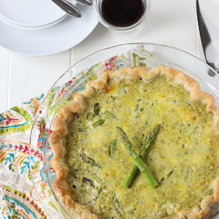 Ricotta, Asparagus, Pesto Quiche