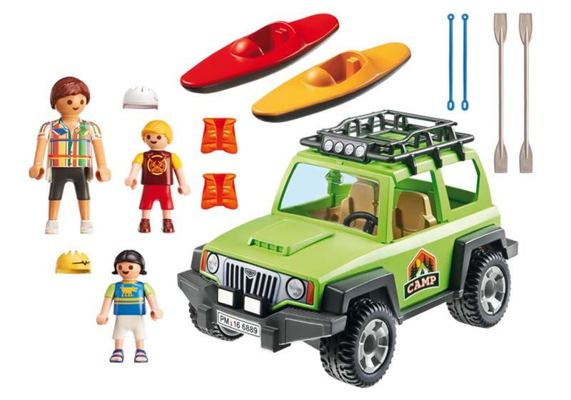 Contenido real de Playmobil® 6889 Vehículo de Camping