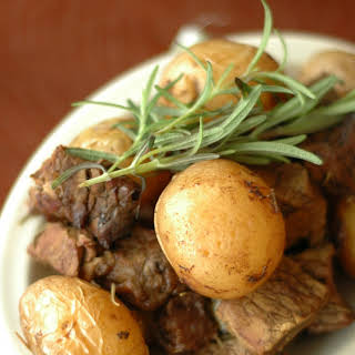 Slow Cooker Honey Rosemary Steak and Potatoes.