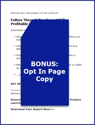 Launch Your Product Like a Pro - Bonus Opt In Page Copy