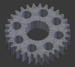 Photo: A blender-view of my baby - one of the hardest models I've made to date. I made this By-Hand, every single pixel, using only a ruler with the stock Cog from ServoCity to measure the distances. Took about 5 test-tries once done to get it Just Right.