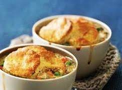 Individual Biscuit Topped Beef Stews