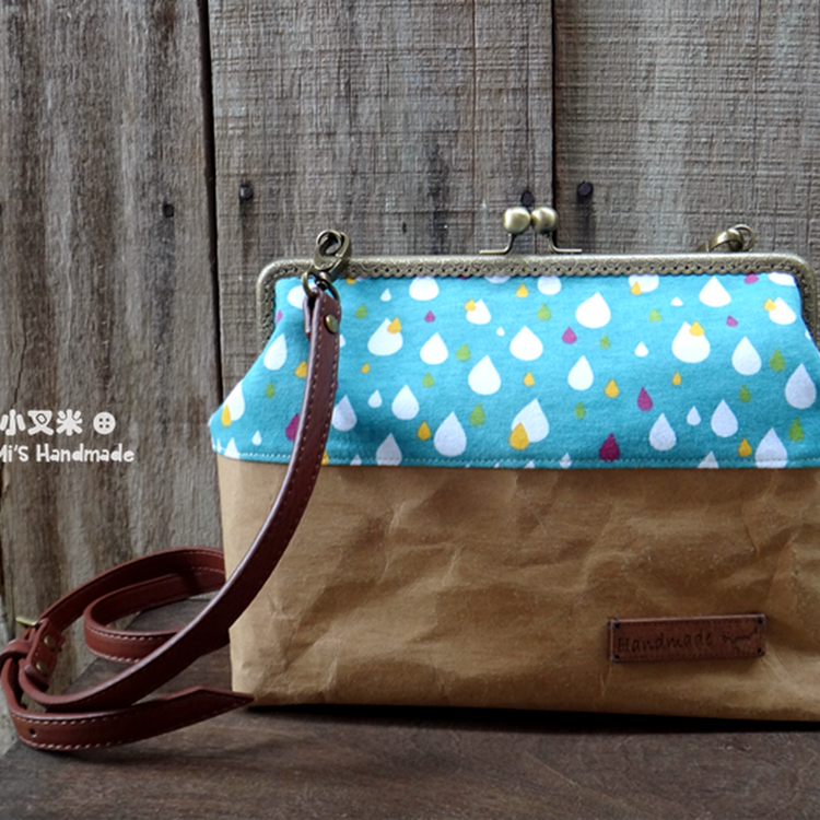 =Colorful Rain Drosp= Antique Frame Bag