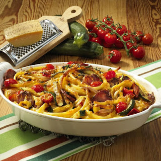 Macaroni and Italian Salami Casserole