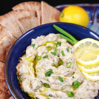 Baba Ghanoush Roasted Eggplant Dip.