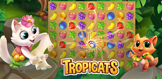 Tropicats: Free Match 3 on a Cats Tropical Island APK