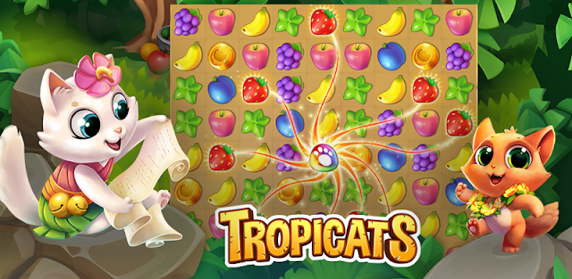 Tropicats: Free Match 3 on a Cats Tropical Island