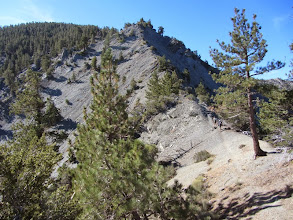 Photo: View south on North Backbone Trail toward the steep rocky section