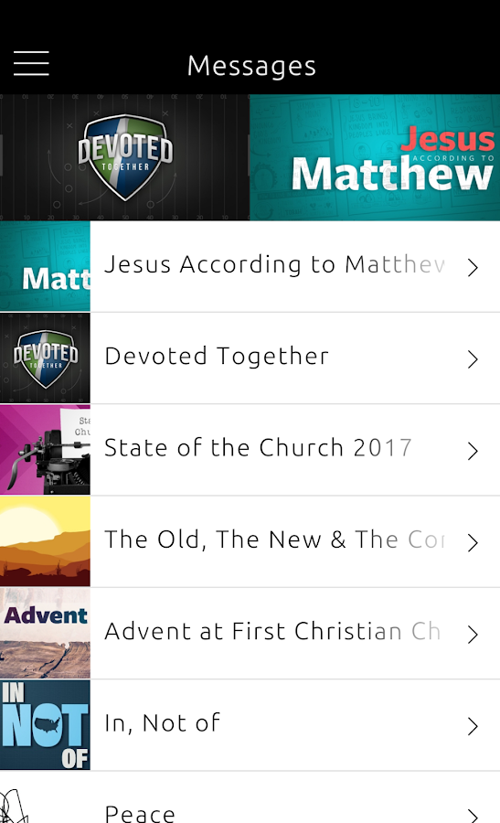 First Christian Church- screenshot