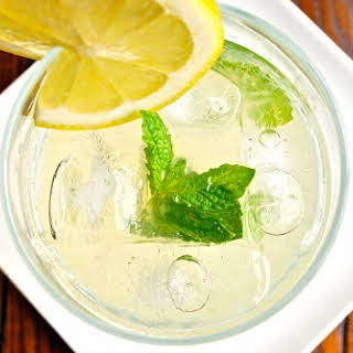 Homemade Mint Lemonade.