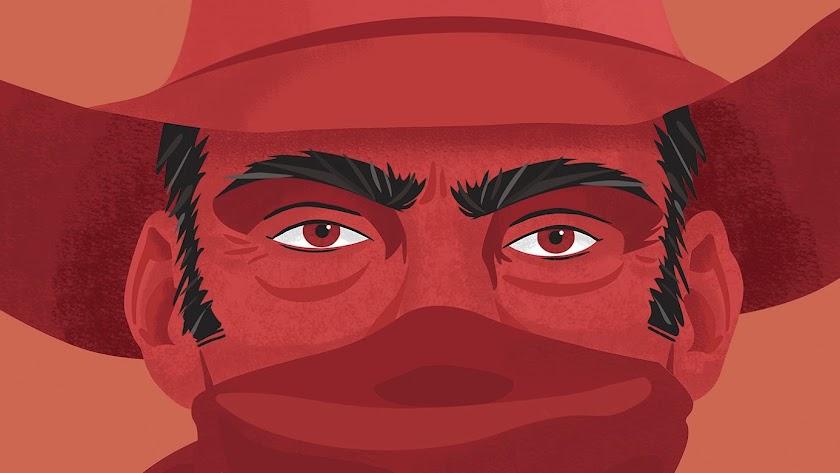 Ilustración de Dani Gemar para el cartel del X Almería Western Film Festival.
