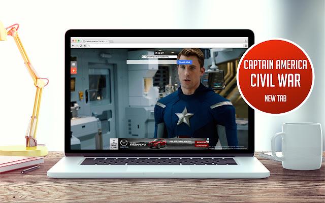 Captain America: Civil War New Tab
