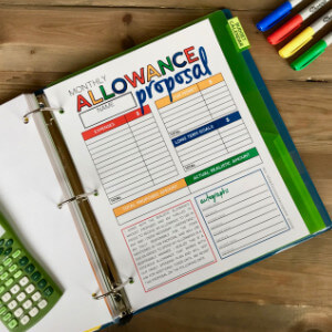 Allowance Proposal Printable