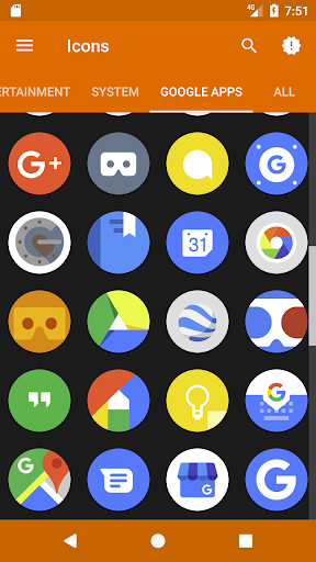 Screenshot for Pie 9 - Icon Pack in Hong Kong Play Store