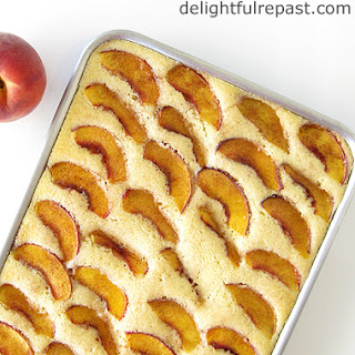 Fresh Peach Sheet Cake