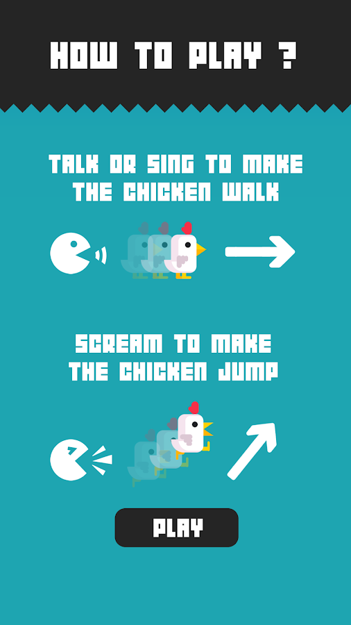 Chicken Scream: captura de pantalla