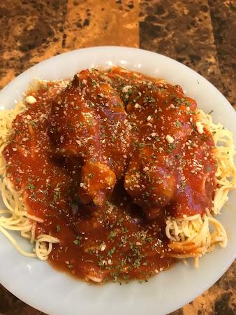 Spaghetti & Chicken Wings Recipe