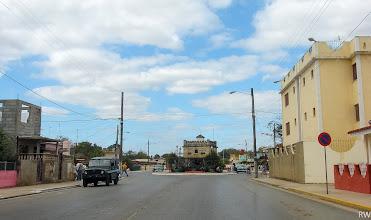 Photo: Впереди с башенками и абразурами здание местной администрации.