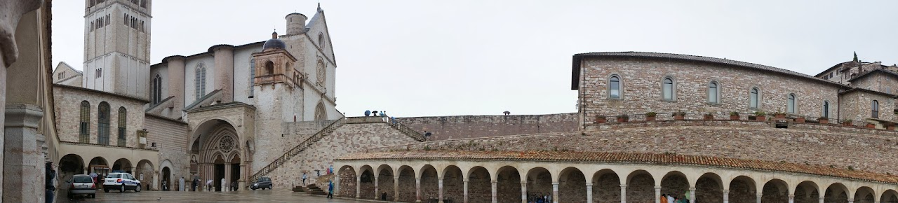 Panorama of the Basilica de San Francesco, Assisi, Italy (2015)