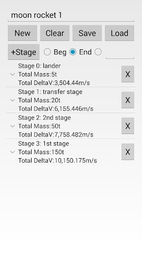Multistage DeltaV Calculator