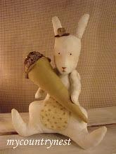 Photo: coniglietto tilda con cono gelato