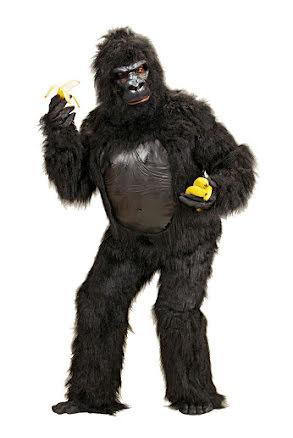 Djurdräkt gorilla deluxe, vuxen