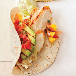 Grilled Ancho-Rubbed Chicken Taco Filling