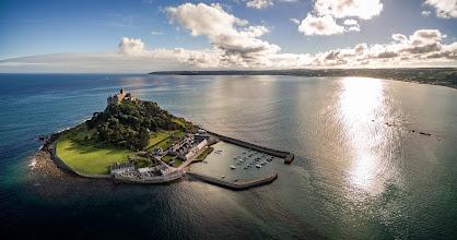 Photo: St.Michael's Mount in Cornwall - #aerial #aerialphotography #phantom3 #luftbild #cornwall #stmichaelsmount #ocean #sunset #atlantic #island #insel #meer #england #atlantik  #travel #travelphotography #reisen