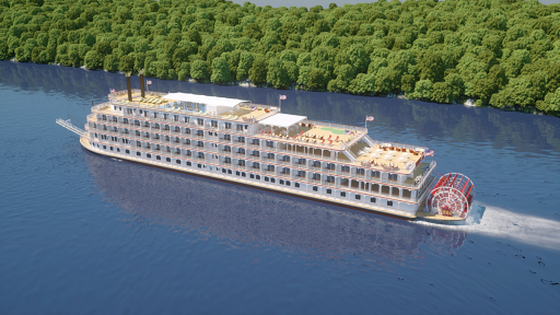 America-rendering.png - America, the new paddlewheeler from American Cruise Lines, offers multiple itineraries along the Mississippi River (digital rendering).